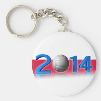 2014 Volley balls World Championship Basic Round Button Key Ring
