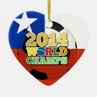 2014 World Champs Ball - Chile Ceramic Heart Decoration