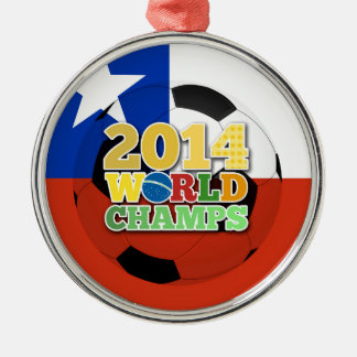 2014 World Champs Ball - Chile Silver-Colored Round Decoration