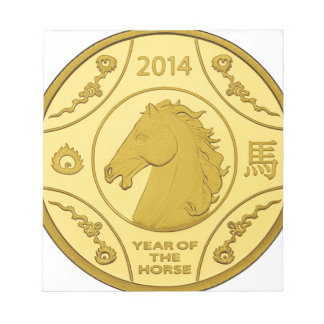 2014 YEAR OF THE HORSE GOLD COIN MEMO PADS