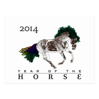 2014 Year of the Horse note Card Postcard