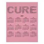 2015: A Year for the Cure Wall Calendar Poster