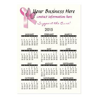 2015 Business Card Calendar Breat Cancer Support