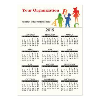 2015 Business Card Calendar Daycare