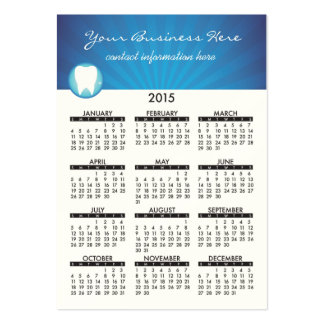 2015 Business Card Calendar Dental