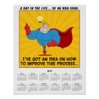 2015 Calendar MBA Graduate Poster