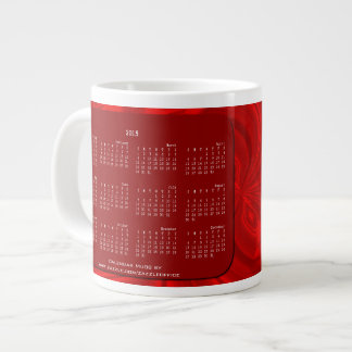 2015 Calendar Mug Abstract Butterfly Red Extra Large Mugs