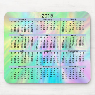 2015 Calendar Pastel Mousepad