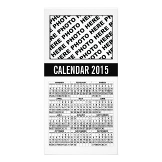 2015 Calendar Photo Card Black White 1