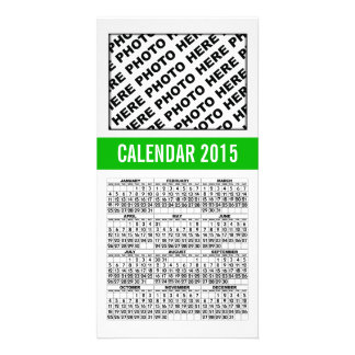 2015 Calendar Photo Card Green Line