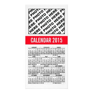 2015 Calendar Photo Card Red Line