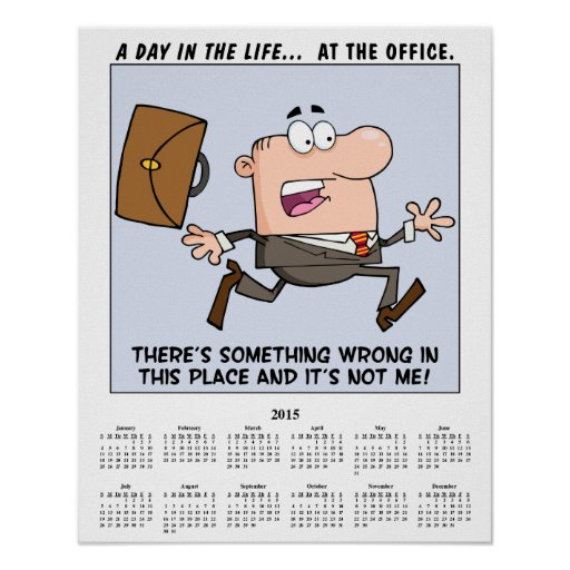 2015 Calendar Running Employee Poster