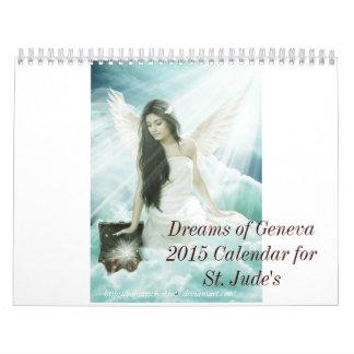 2015 Dreams of Geneva 15 Month Calendar