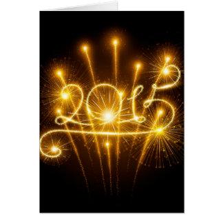 2015 fireworks greeting card