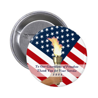 2015 Memorial Day Observance-Military Thank You 6 Cm Round Badge