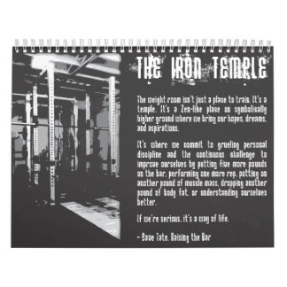 2015 Motivational Bodybuilding Gym Calendar