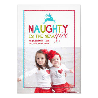 2015 Naughty is the New Nice | Holiday Photo Card