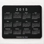 2015 Neon White Calendar by Janz Mousepad Mouse Pad