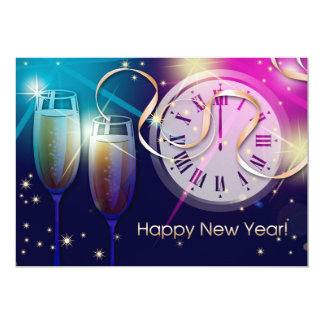 "2015 New Year's Eve Party Customizable Invitations 5"" X 7"" Invitation Card"