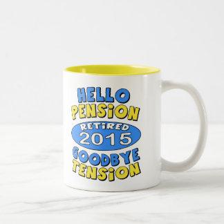 2015 Retirement Two-Tone Coffee Mug