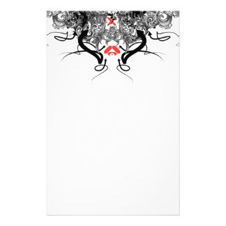 2015 Skull scrolls Personalized Stationery