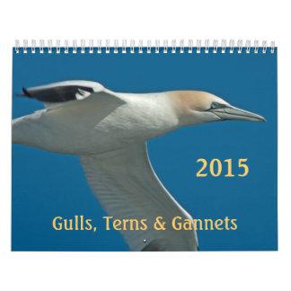 2015 Terns, Gulls and Gannets Monthly Calendar