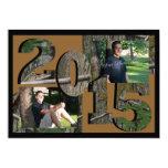 2015 Tree Camo Twin Photo Brown 13 Cm X 18 Cm Invitation Card