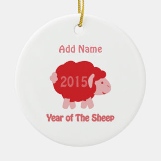 2015 Year of the Sheep Ceramic Ornament