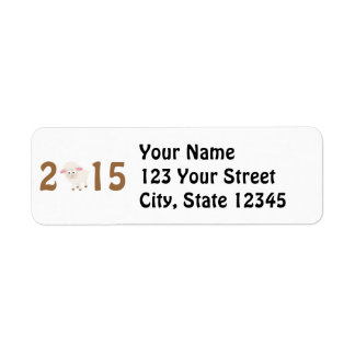 2015 - Year of the sheep design Return Address Label