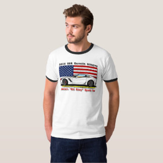 2015 Z06 Corvette Old Glory Men's Ringer Shirt