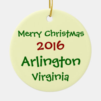 2016 ARLINGTON VIRGINIA MERRY CHRISTMAS ORNAMENT