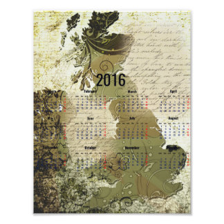 2016 British Isles Calendar Poster Photographic Print