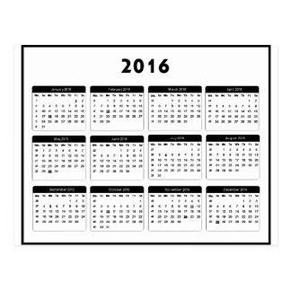 2016 Calendar2 jGibney The MUSEUM Zazzle Gifts Postcard