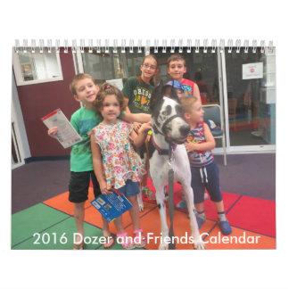 2016 Calendar, Dozer and Friends Calendar