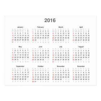 2016 Calendar Gifts Postcard