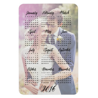 2016 Calendar Photo Magnets