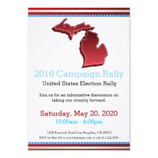 2016 Campaign Rally Michigan Invitation