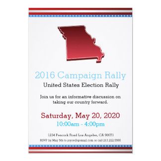2016 Campaign Rally Missouri Invitation
