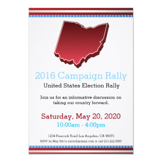 2016 Campaign Rally Ohio Invitation
