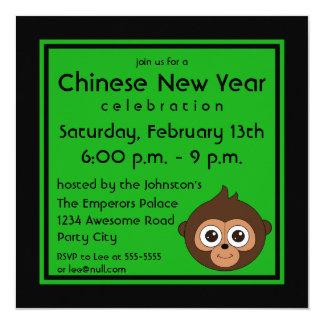 2016 Chinese New Year Monkey Invitation