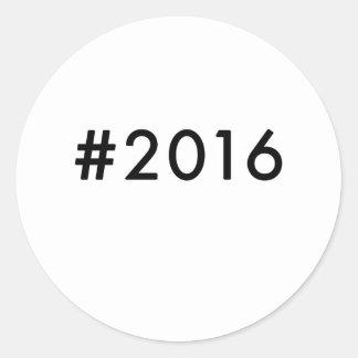 2016 CLASSIC ROUND STICKER