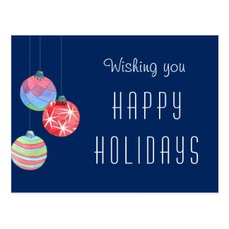 2016 Corporate Business Holiday Greeting Thank You Postcard