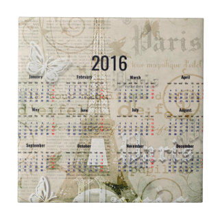 2016 Eiffel Tower Paris New Year Gifts Small Square Tile