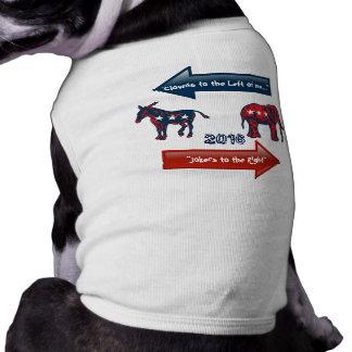2016 Election Pawlitics Clowns and Jokers Sleeveless Dog Shirt