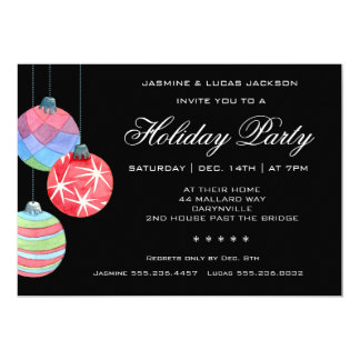 2016 Festive Holiday or Christmas Party Invitation