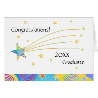 2016 Fun Starry Graduation Greeting Card