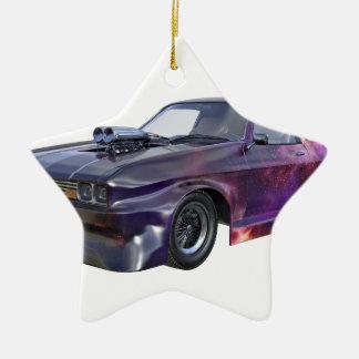2016 Galaxy Purple Muscle Car Ceramic Ornament
