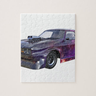 2016 Galaxy Purple Muscle Car Jigsaw Puzzle