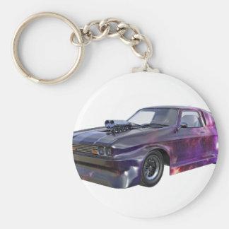 2016 Galaxy Purple Muscle Car Key Ring