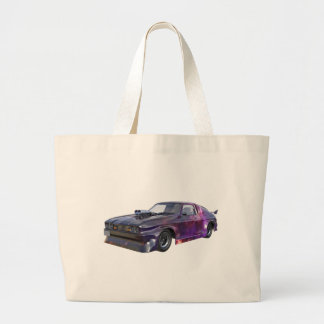 2016 Galaxy Purple Muscle Car Large Tote Bag